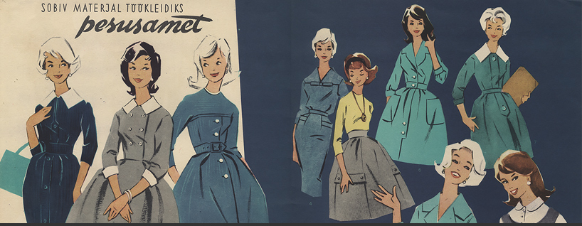 Soviet Fashions from the 1950's to the 1960's.